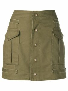 Saint Laurent button-down mini skirt - Green