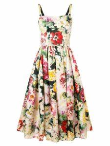 Dolce & Gabbana floral print flared dress - PINK