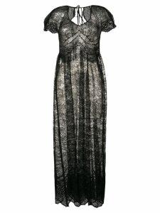 Paco Rabanne lace maxi dress - Black