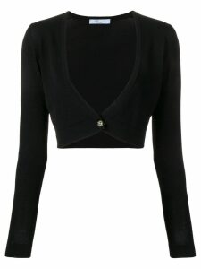 Blumarine cropped cardigan - Black