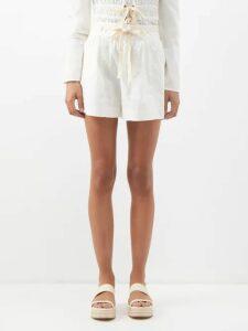 Athena Procopiou - Mandrem Love-print Silk Crepe De Chine Dress - Womens - Red White
