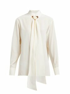 Chloé - Tie Neck Silk Blouse - Womens - Cream