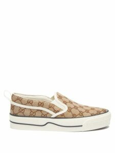 Mm6 Maison Margiela - Sailor-collar Floral-print Satin Blouse - Womens - Orange Multi