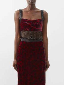 Mm6 Maison Margiela - Layered Cotton-poplin Shirt - Womens - Blue Multi