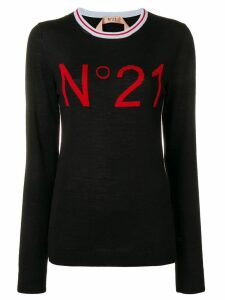 Nº21 logo basic jumper - Black
