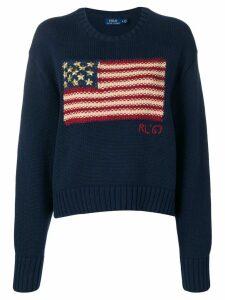 Polo Ralph Lauren flag knit slouchy sweater - Blue