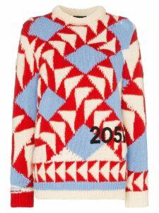 Calvin Klein 205W39nyc geometric knit long sleeve sweater -
