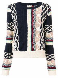 Aalto textured jacquard-knit sweater - Blue