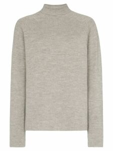 Carcel Milano alpaca wool turtleneck sweater - Grey