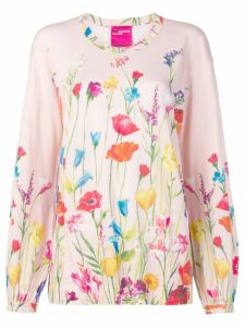 Blumarine floral print jumper - Pink