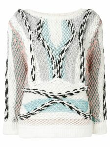 Peter Pilotto chunky knitted cord jumper - White