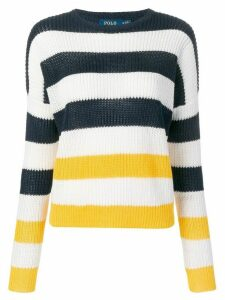 Polo Ralph Lauren ribbed knitted striped jumper - Blue