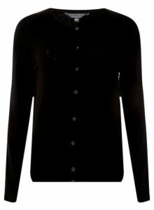 Womens **Tall Black Button Cardigan, Black