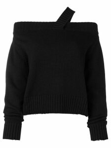 RtA off shoulder knitted jumper - Black