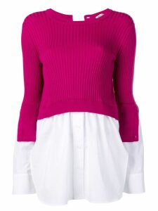 Kenzo layered knitted top - PINK