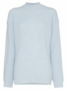 Nanushka Cloud high neck knitted top - Blue