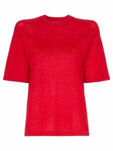 Carcel Short sleeve alpaca wool T-shirt - Red