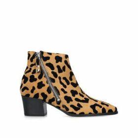 Womens Sacriledge Carvela Leopard Print Ankle Boots, 3.5 UK, Tan