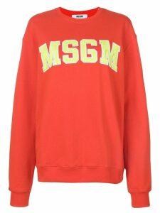 MSGM branded sweatshirt - Red