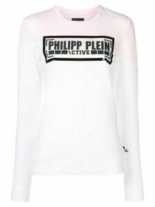 Philipp Plein logo sweatshirt - White