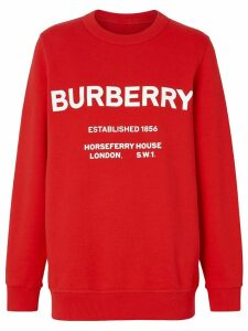 Burberry Horseferry Print Cotton Sweatshirt - Red