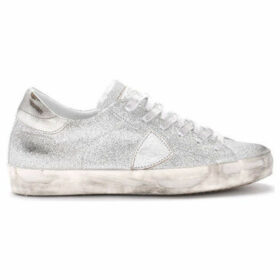 Philippe Model Paris  Paris silver glitter sneaker  women's Shoes (Trainers) in Silver