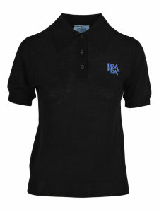 Prada Prada Embroidered Logo Polo Shirt