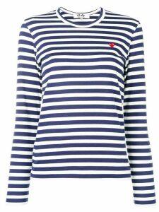 Comme Des Garçons Play stripe print jersey - White