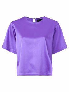 Cynthia Rowley Rush stretch satin T-shirt - Purple