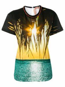 Nº21 beach print T-shirt - Black