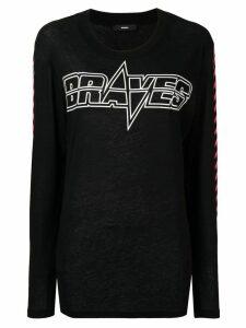 Diesel Brave print longsleeved T-shirt - Black