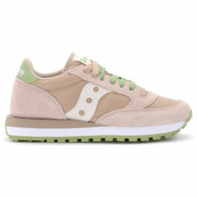 Saucony  Jazz pink blush and green suede and fabric sneaker  women's Shoes (Trainers) in Pink