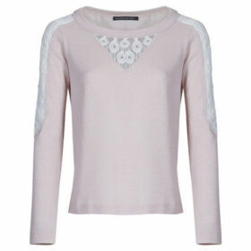 Mado Et Les Autres  Sweatshirt with lace insert  women's Blouse in Pink