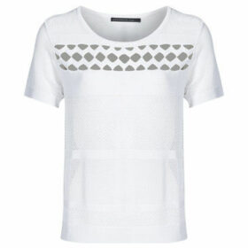 Mado Et Les Autres  Knitted polyamide viscose t-shirt  women's T shirt in White