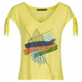 Mado Et Les Autres  V neck T-shirt  women's Blouse in Yellow