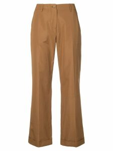 Aspesi cropped straight-leg trousers - Brown