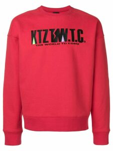 KTZ mountain letter embroidered sweatshirt