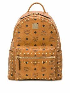 MCM studded Stark backpack - Brown