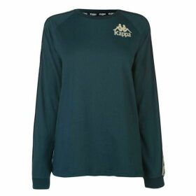 Kappa Dixon Long Sleeve T Shirt - Petrol