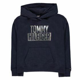 Tommy Hilfiger Essential Logo Hoodie - Black Iris