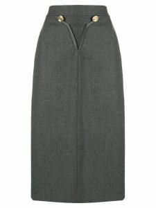Louis Feraud Pre-Owned 1980 skirt - Grey