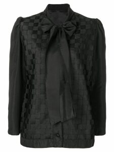 Versace Pre-Owned 1990's pussy bow top - Black