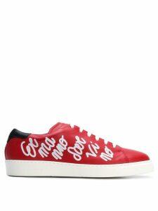Ermanno Scervino grafitti low-top sneakers - Red
