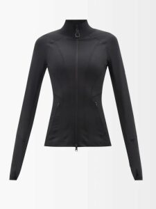 Biyan - Song Botanical-print Silk-organza Blouse - Womens - Black Multi