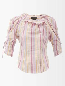 Phipps - Pangolin Print Cotton Sweatshirt - Womens - Blue Multi