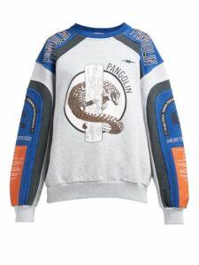 Phipps - Pangolin Organic Cotton Motocross Sweatshirt - Womens - Grey Multi