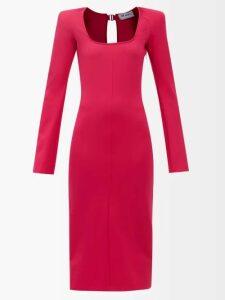 Edward Crutchley - Single-breasted Wool Blazer - Womens - Navy
