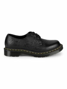 1461 Floral Embossed Leather Derby Shoes