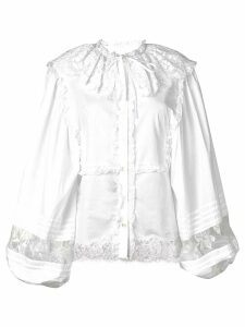 Dolce & Gabbana long-sleeved lace blouse - White