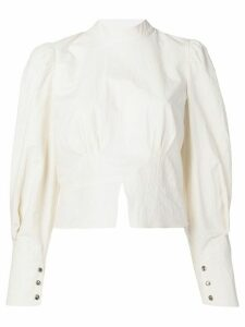 Nanushka structured shoulder blouse - White